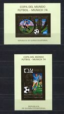 s5173) GUINEA EC. 1974 MNH** WC Football -CM Calcio S/S x2 GOLD WINNERS IMPERF
