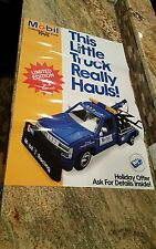 "Mobil 1995 1:24 Collectible Toy Tow Truck 3rd In Series new poster 35 x 24"" rare"