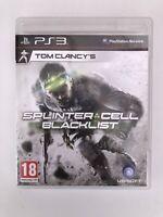 Tom Clancy's Splinter Cell, Blacklist (18) Sony PlayStation 3, PS3, (2013)