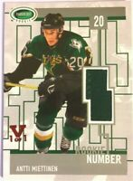 2003-04 Parkhurst Rookie Game-Used Number Patch Antti Miettinen Vault Red 1/1