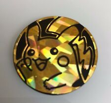OtBG x1 Pikachu Shattered Waving Gold Large Promo Pokemon Flip Coin TCG Official