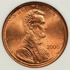 2000 ANACS MS64RD Flip Over Double Struck Lincoln Cent Mint Error Amazing!