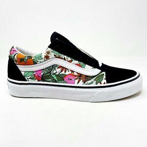 Vans Old Skool (Multi Tropical) Black True White Floral Womens Casual Shoes