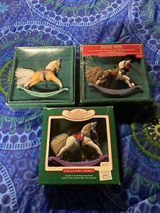 "Vintage Hallmark ""Rocking Horse"" Collector's Series Ornament"
