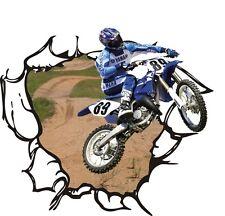 Motocross Moto Bambini Camera Da Letto Adesivi Da Parete/Decalcomania in Vinile (wa088)