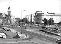 AK, Leipzig, Am Brühl, Straßenparte mit Konsument - Warenhaus, Straßenbahn, 1969