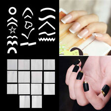 Women's DIY Nail Art Stickers French Manicure Tips Form Guide Polish Sticker