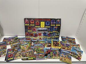 Lot Of Masters Of The Universe Mini Comics & Promo Sheets Mattel