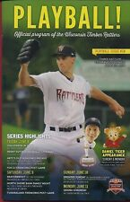 WISCONSON TIMBER RATTLERS 2018 OFFICIAL PLAYBALL PROGRAM ISSUE #10 BRENT SUTER