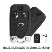 3 Buttons Black Replacement Remote Control Housing Car Key Shell for ALFA ROMEO