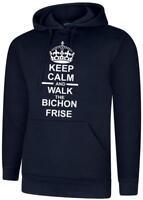 Keep Calm /& Passeggiata Il Bichon Frise /'Cane Regalo Felpa Con Cappuccio Felpa Con Cappuccio Felpa Con Cappuccio