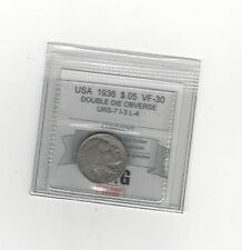 **1936** USA, Five Cent, Buffalo Nickel, Dbl Die Obverse URS-7 I-3 L-4