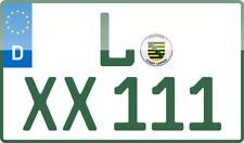 2 Traktor AGRAR Kennzeichen 240x130 GRÜN