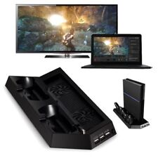 PS4 Pro Vertical Stand Accessory Kits With Dual Cooling Fan Controller Charging