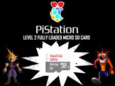 Pistation Retropie PSX Playstation Retro Gaming 64 GB Micro SD Raspberry Pi 2/3