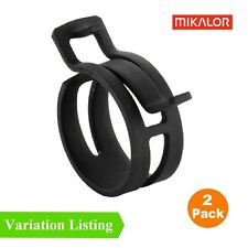 2 x Mikalor W1 Heavy Duty Spring Band Clip Radiator Pipe Air Oil Fuel DIN 3021