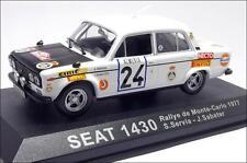 Seat Fiat 1430 Rally de Monte Carlo 1977 #24 servia Sabater Ixo Altaya 1:43