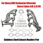 Stainless Headers For Chevy GMC Avalanche Silverado Sierra Tahoe 4.8L 5.3L V8
