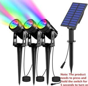 Solar Powered Spotlight 2 Warm White Lights Solar Panel Outdoor Lighting Lamp