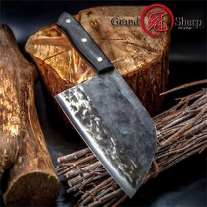 7'' Handmade Forged Chef Knife Professional Clad Steel Forged Chinese Cleaver