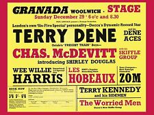 "Terry Dene / Chas Mcdevitt Woolwich 16"" x 12"" Photo Repro Concert Poster"