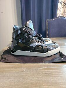 New Diesel Tempus S-Titann Mid Fashion Mens Sneakers black Blue Shoes 10 $298