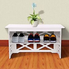 Hall Storage Bench Seat Telephone Entry Way Pantry Shoe Stand Chair Shelf Rack
