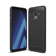 FUNDA para Samsung Galaxy A8 2018 Plus Negra case coque TPU Gel Silicona carcasa