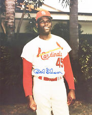1960s--BOB GIBSON (CARDS HOFer)--SIGNED 8x10 PHOTO--AUTHENTICITY GUARANTEED-NMT