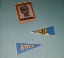 Vintage Ken Doll Cardboard Picture and Pennants from Barbie Dream House 1962