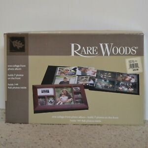 Rare Woods One Collage Front Photo Album for 151 Pictures