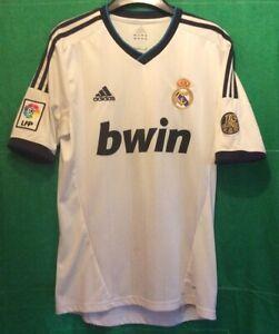 Real Madrid 2012/13 Adidas 12/13 Home Football Shirt 110 Anos Small Mens