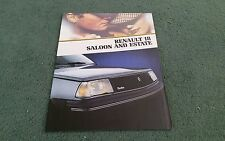 1984 1983 RENAULT 18 SALOON ESTATE UK BROCHURE TURBO TL GTL TD TS GTX AUTOMATIC