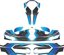 Blu con motivo tribale personalizzato Completo Kart Kit Adesivo-Kart-Go Kart-jakedesigns