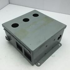 """Hoffman A-808CH Electrical Enclosure Box, Hinged Cover 8""""x 8""""x 4"""" *Holes*"""