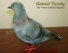 Gray Pigeon Standing Realistic Feather Bird Figurine Furry Animal Grey Dove