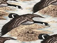 Fabric Birds Geese Flying over Lake Cotton by the 1/4 yd