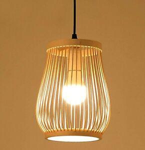 Wooden pendant light, rattan ceiling lamp, hanging lights, pendant light shade