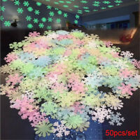 Decor Kids Room Party Supplies Snowflake Wall Stickers Luminous Fluorescent
