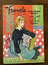 Vintage 1967 Whitman Francie Coloring Book with Paper Doll Cut Out Clothes