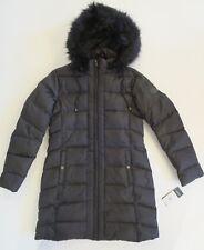 Ralph Lauren Down Parka  (M) Womens Jacket Hooded Black Faux Fur trim Coat $320!