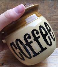 Vintage TG Green Granville Coffee Jar/Retro/Storage/1970's/70's/Browning
