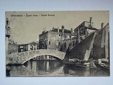 CHIOGGIA canale Vena Ponte Scarpa barca vela pesca Venezia vecchia cartolina