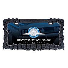 Black Skulls License Plate Frame