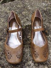 Zapatos De Piel Talla 36 Tacon Corrido Mablue