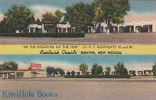 Postcard Ruebush Courts Deming New Mexico NM 1952