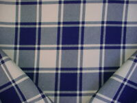 1-3/8Y Ralph Lauren LCF66888F Avery Rock Plaid Indigo Wool Upholstery Fabric