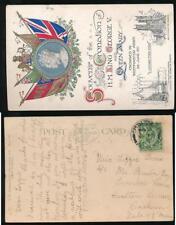 ISLE of MAN 1912 PPC CASTLETOWN to ONCHAN...ROYAL CORONATION CARD