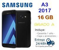 Samsung Galaxy A3 2017 Of 16GB Black Reconditioned Free / Grade A / Box Acc