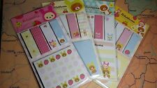 a set of 4 Memo stickey note rilakkuma bear 4 patterns